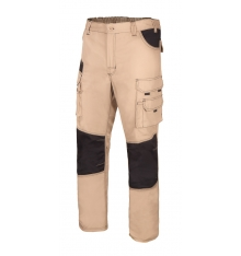 Pantalón canvas bicolor multibolsillos