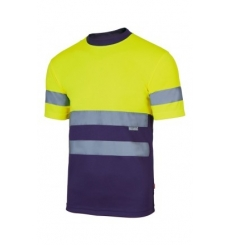 Camiseta técnica bicolor alta visibilidad