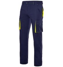 Pantalón stretch bicolor forrado multibolsillos