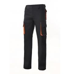 Pantalón bicolor  forrado multibolsillos