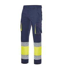 Pantalón 100% algodón bicolor alta visibilidad