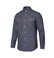 Camisa denim stretch manga larga hombre